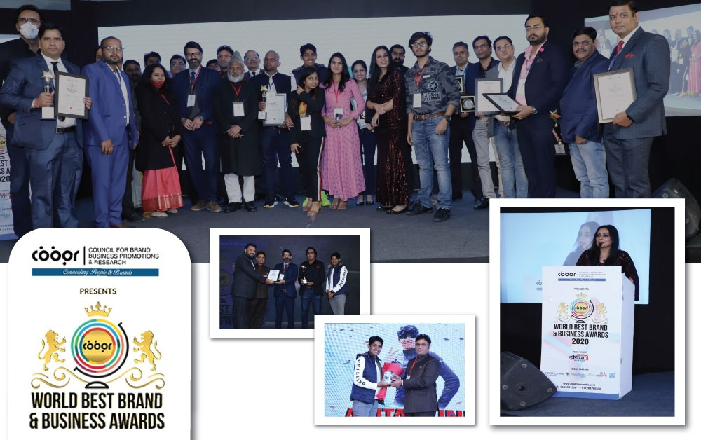 Council for Brand Business Promotions & Research's  Prestigious World Best Brand & Business Awards 2020 held Successfully in Delhi
