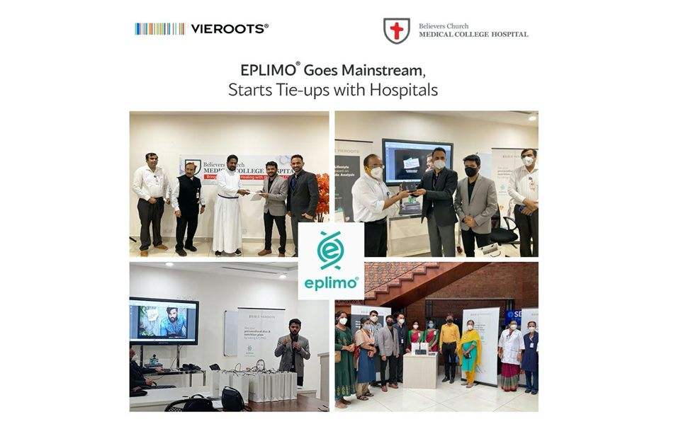 Believers Church Medical College Hospital ties up with Vieroots for EPLIMO Personalized Lifestyle Management